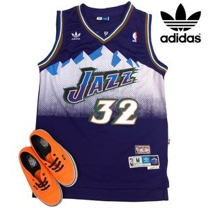 Adidas Utah Jazz Malone Hardwood Classics Jersey